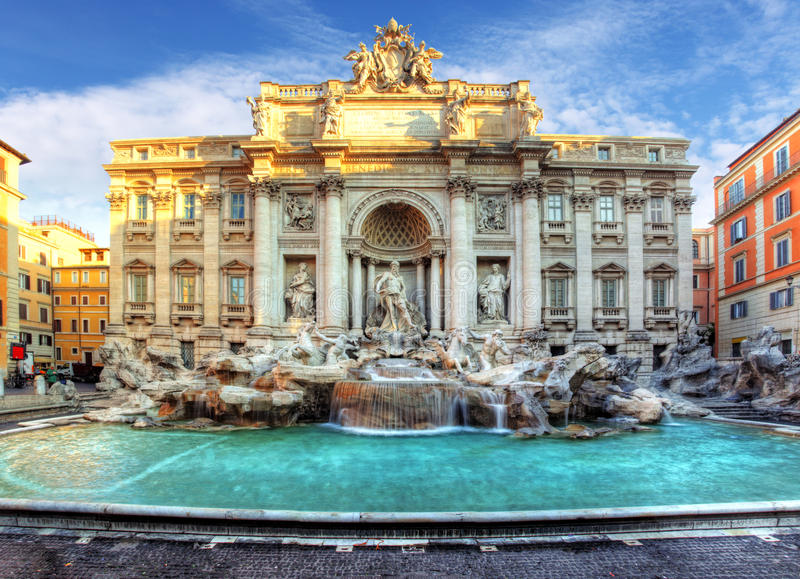 Trevi Fountain, rome, Italy. stock photography