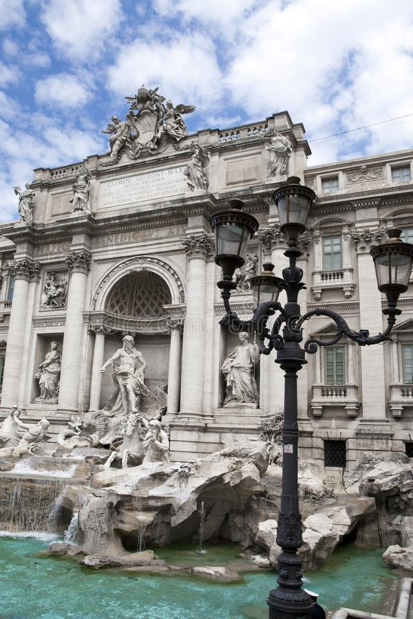 Trevi Fountain in Rome - Italy. Fontana di Trevi.  stock images