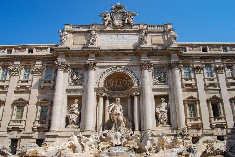 Trevi-springbrunn, detalj, Rome, Italien arkivbild