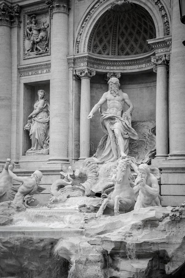 Trevi-springbrunn & x28; Fontana di Trevi& x29; i Rome italy arkivbild