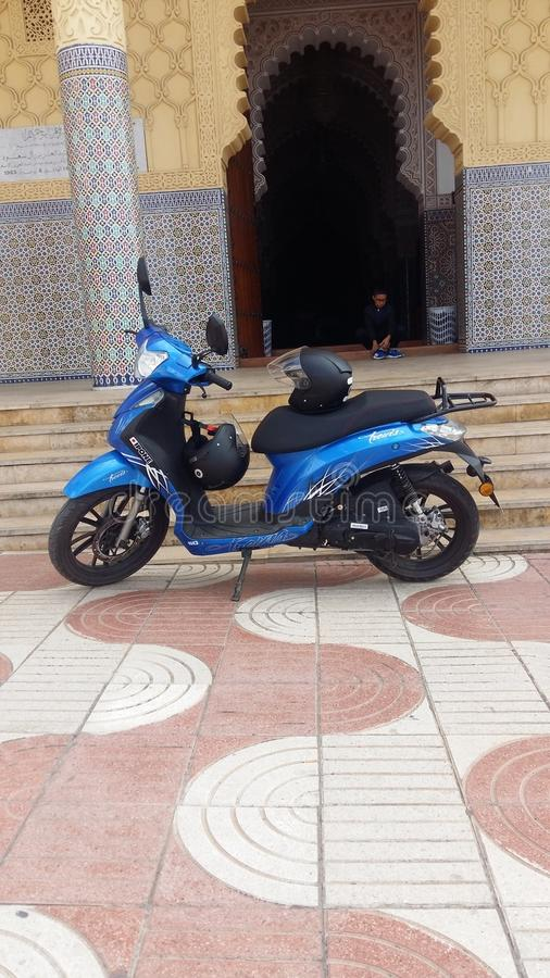 Trevis moto自行车 免版税图库摄影