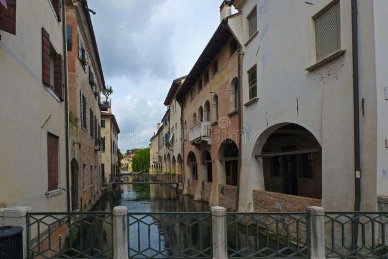 Treviso, Ιταλία, επίσης γνωστή ως μικρό Venezia, και τα κανάλια του στοκ φωτογραφίες με δικαίωμα ελεύθερης χρήσης