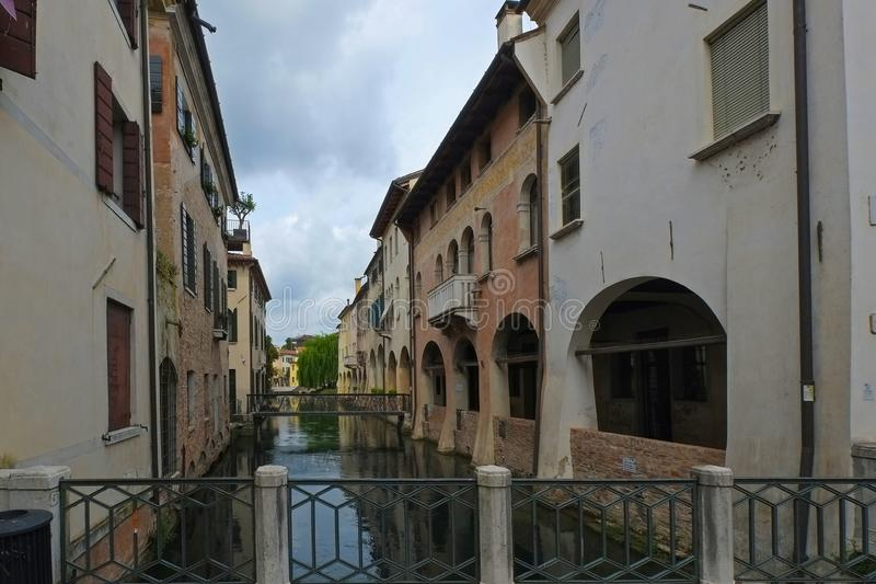 Treviso, Italy, also known as Small Venezia, and its canals royalty free stock photos