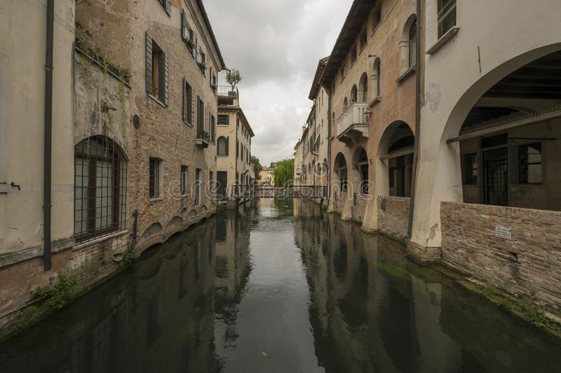 Treviso city, Italy, and its canals royalty free stock photography