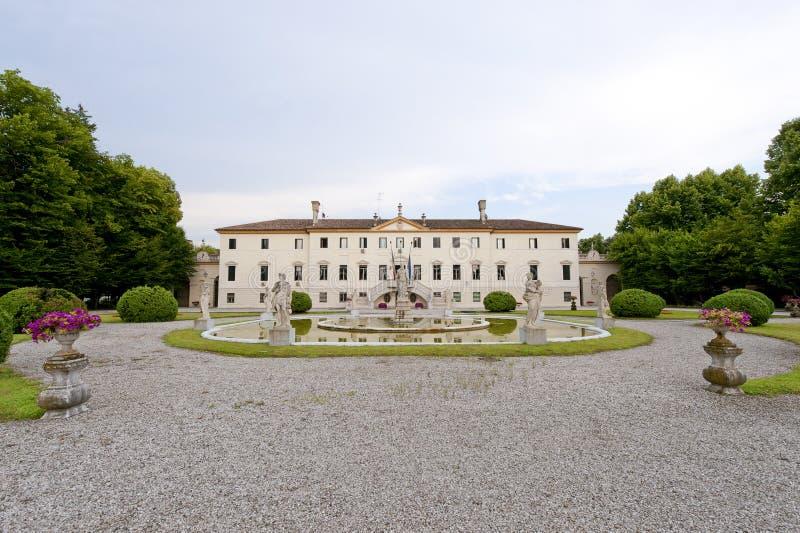 Treviso (Veneto, Italy) - Ancient villa and park stock photo