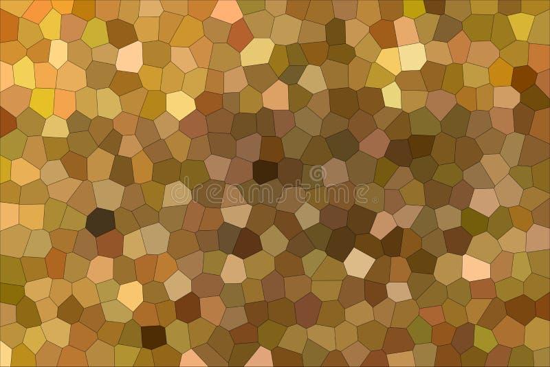 Trevlig abstrakt illustration av den lilla sexhörningen för brun och röd impressionism Användbar bakgrund för dina behov stock illustrationer