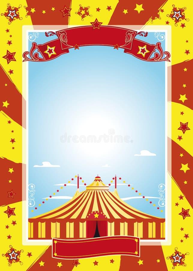 trevlig affisch för cirkus royaltyfri illustrationer