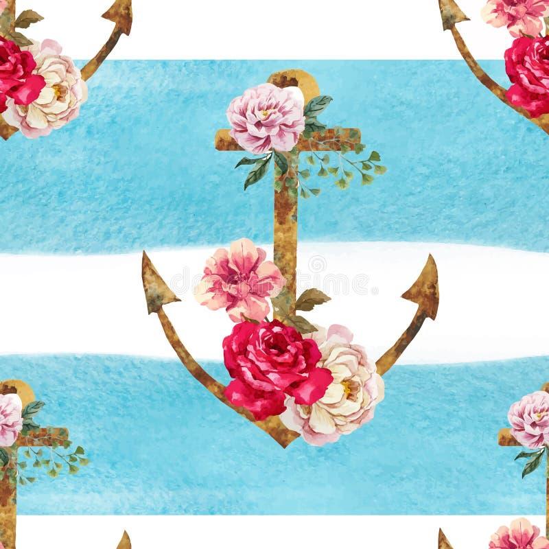 Trevlig ankarmodell royaltyfri illustrationer