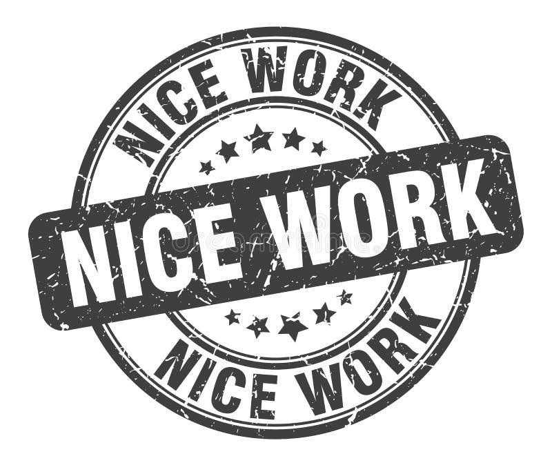 Trevlig arbetsst?mpel stock illustrationer