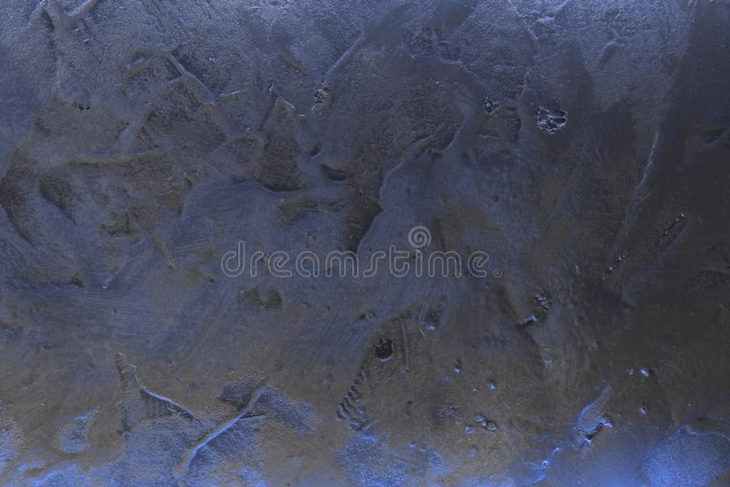 Trevlig blå idérik skinande texturerad venetian murbruktextur - abstrakt fotobakgrund arkivbild