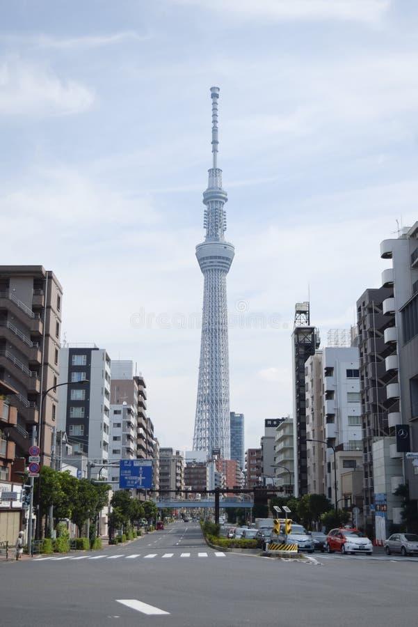 Trevlig byggnad i Tokyo royaltyfri foto