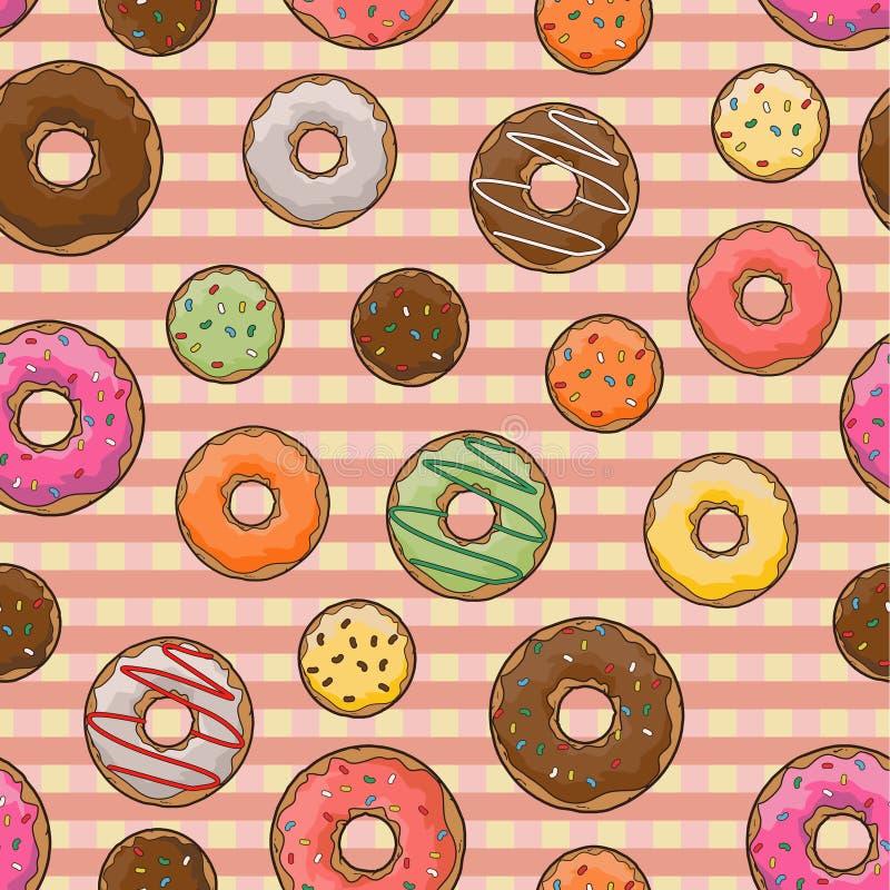 Trevlig donutsmodell royaltyfria bilder