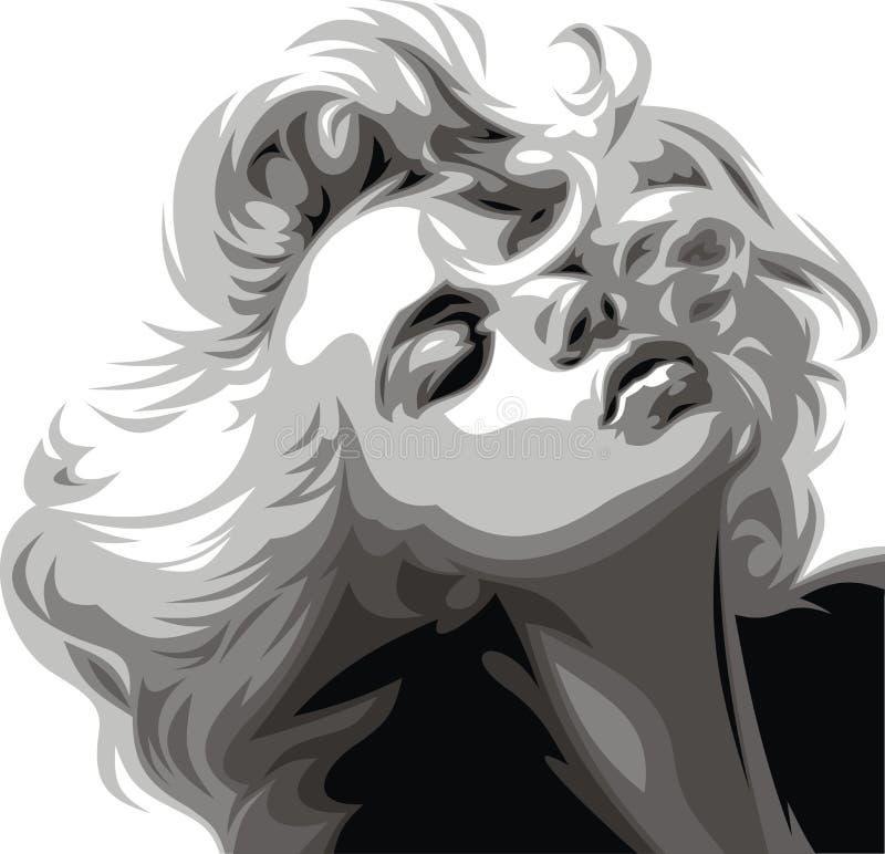 Trevlig flicka vektor illustrationer
