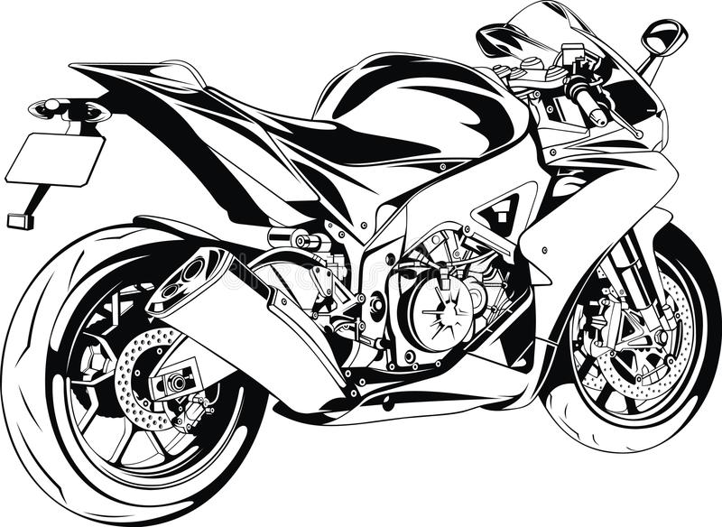 Trevlig flicka och moped vektor illustrationer