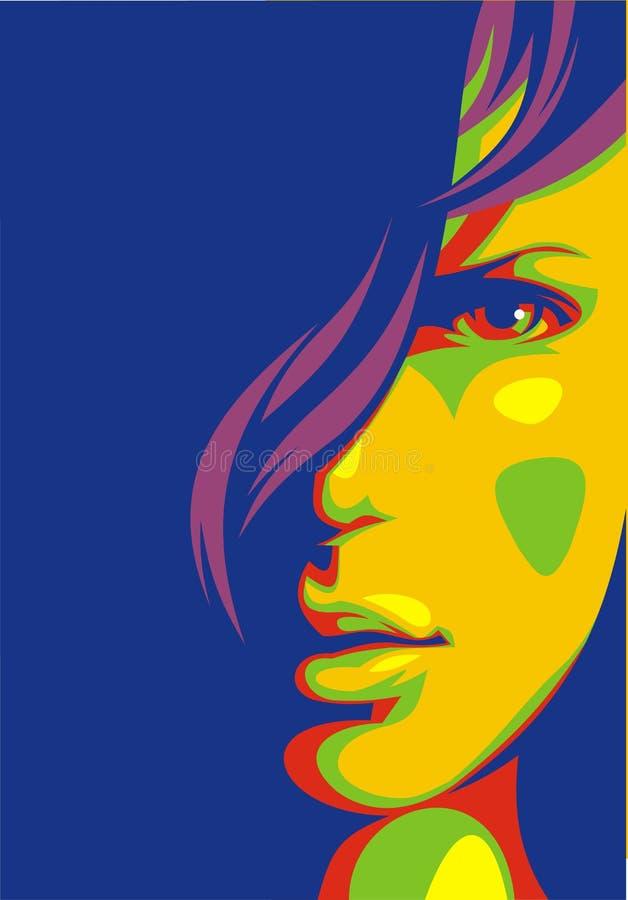 Trevlig flickaframsida från min dröm vektor illustrationer