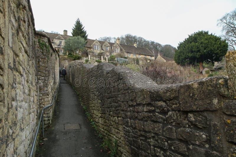 Trevlig gammal stad Bradford på Avon i Förenade kungariket arkivfoto