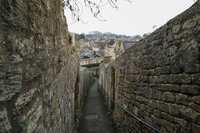 Trevlig gammal stad Bradford på Avon i Förenade kungariket royaltyfri foto