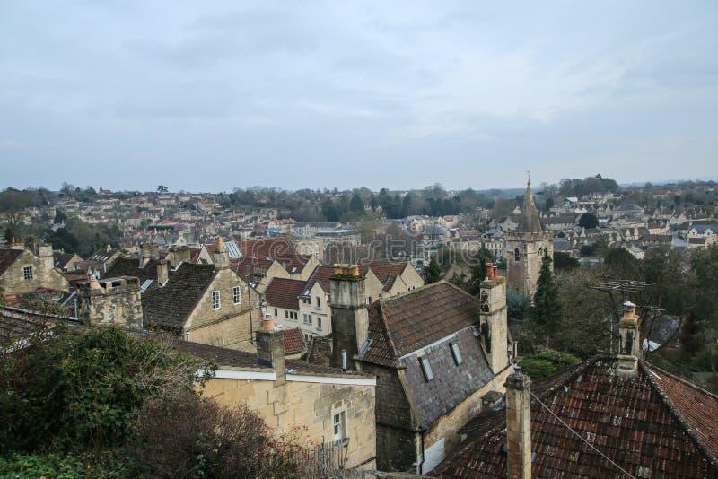 Trevlig gammal stad Bradford på Avon i Förenade kungariket fotografering för bildbyråer
