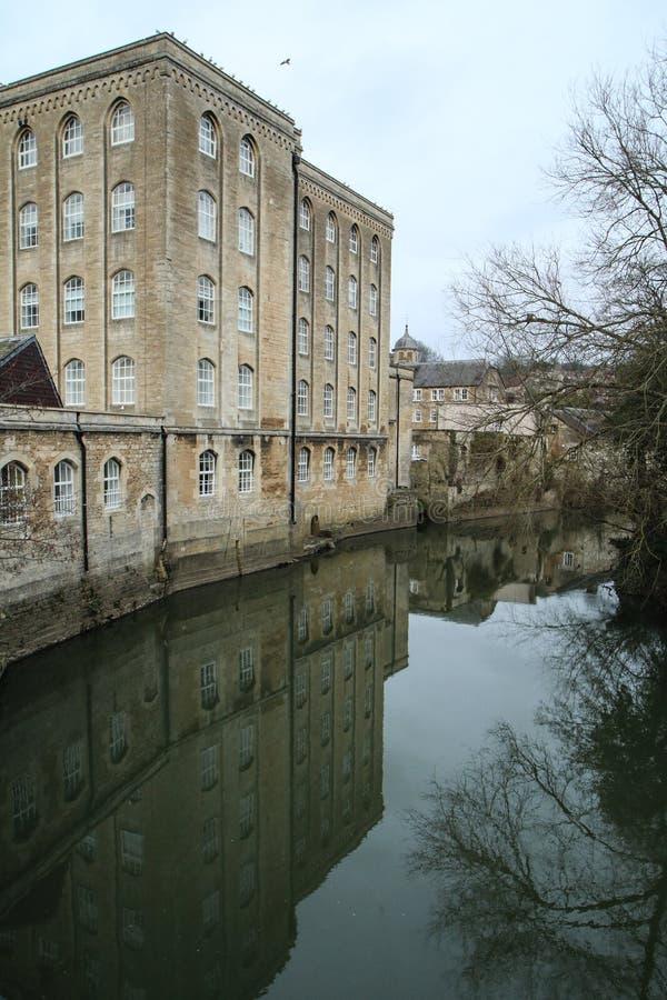 Trevlig gammal stad Bradford på Avon i Förenade kungariket royaltyfri bild