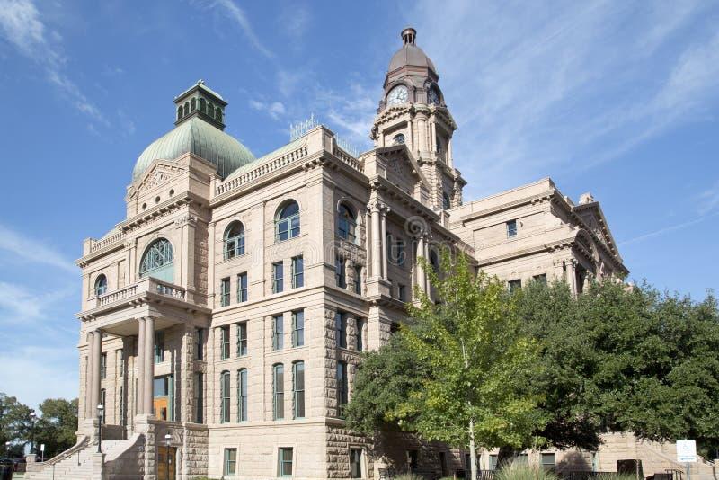 Trevlig historisk byggnadTarrant County domstolsbyggnad fotografering för bildbyråer