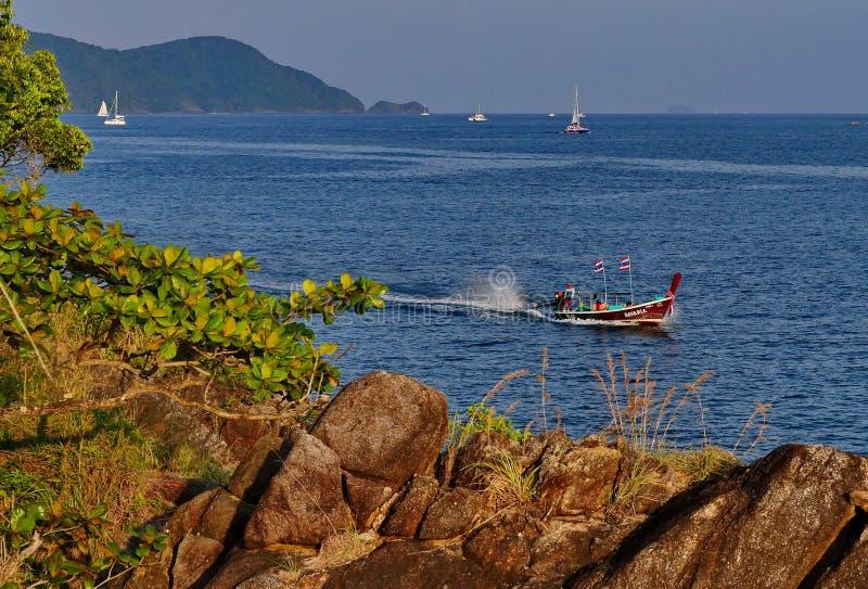 Trevlig landskapPhuket seaview royaltyfria foton