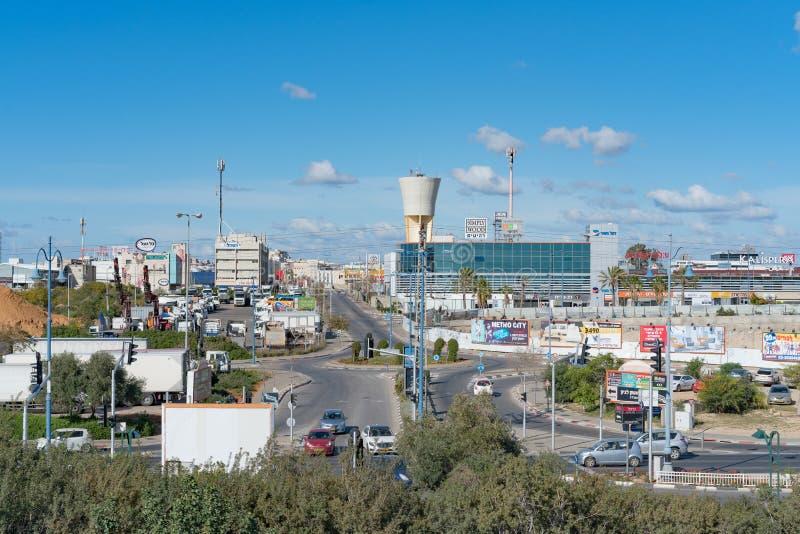 Trevlig landskapsikt av staden i Israel arkivfoto