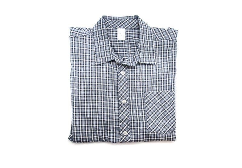 Trevlig manlig kontrollskjorta fotografering för bildbyråer