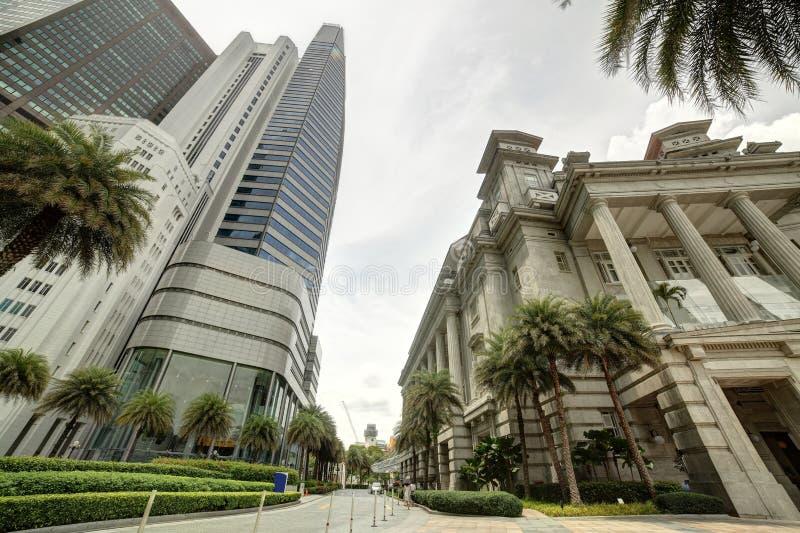 Trevlig och härlig cityscape av singapore royaltyfria bilder
