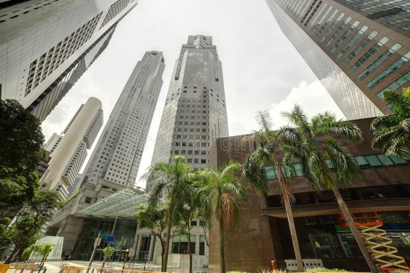 Trevlig och härlig cityscape av singapore arkivfoton