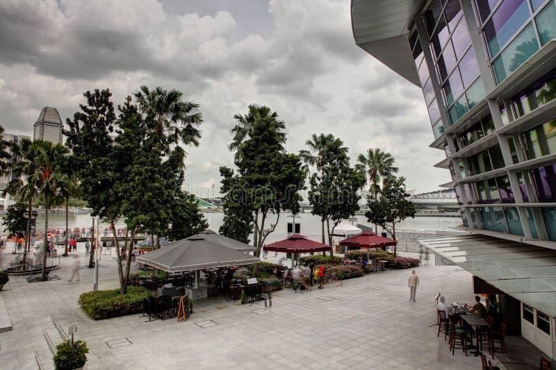 Trevlig och härlig cityscape av singapore arkivbild