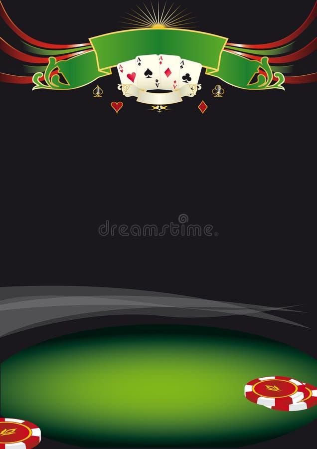 Trevlig pokerbakgrund royaltyfri illustrationer