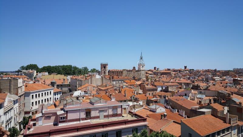 Trevlig sikt i Perpignan royaltyfria bilder