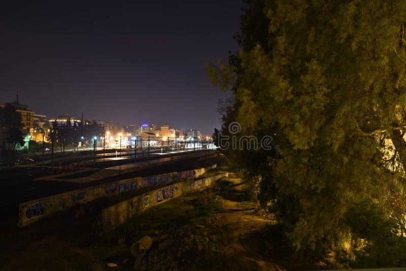 Trevlig sikt på natten royaltyfria foton