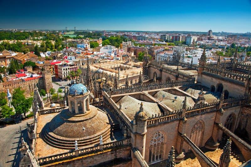 Trevlig sikt på Sevilla royaltyfri bild