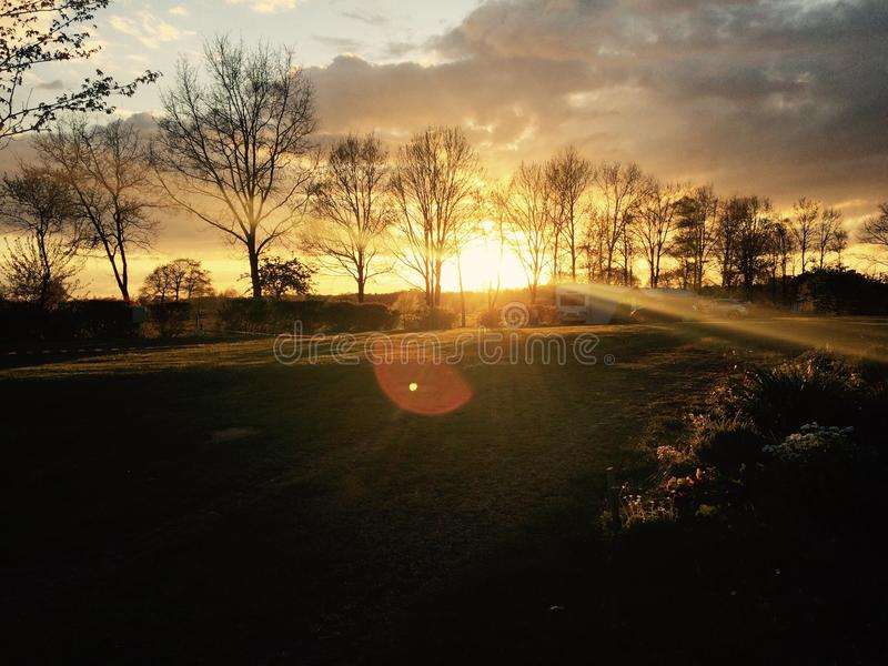 trevlig solnedgång royaltyfria bilder