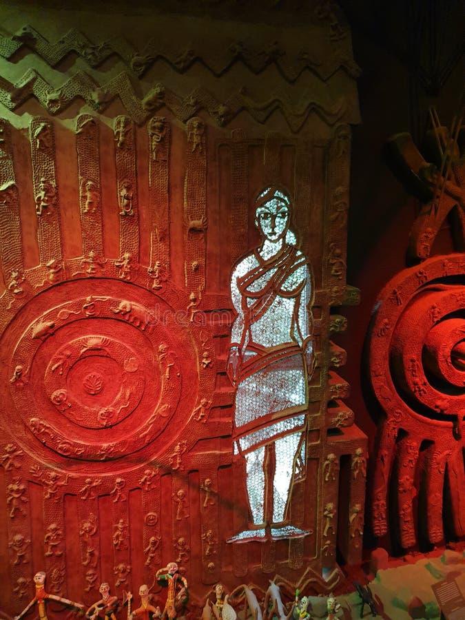 Trevlig stam- konst, färgrikt, kombination som är unik, bild fotografering för bildbyråer