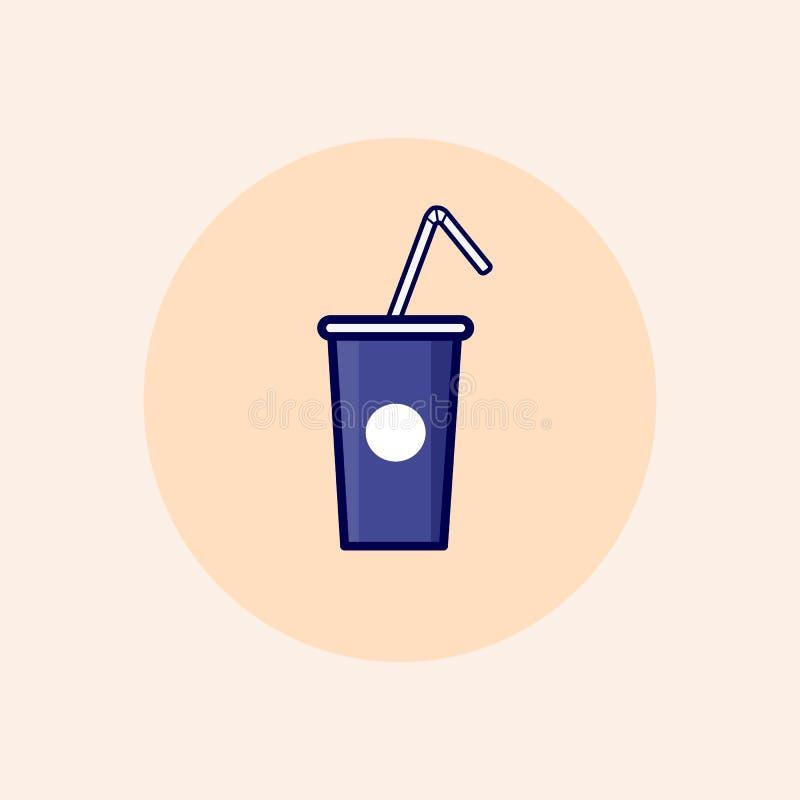 Trevlig symbol för vektorsodavattendrink stock illustrationer