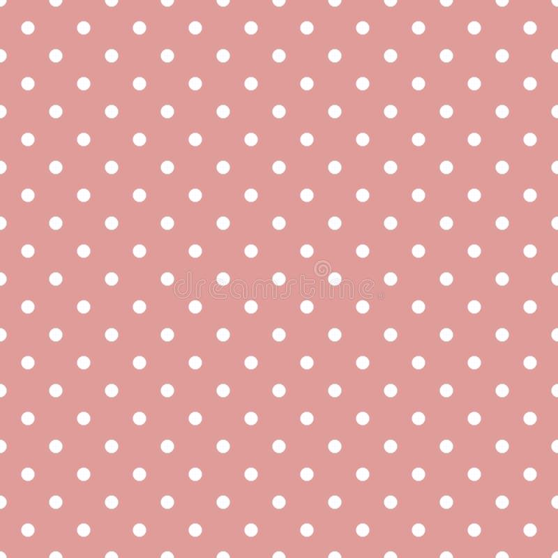 Trevlig textur, den sömlösa modellen för bakgrund med små vita cirklar på bakgrund av smutsiga rosa färger för pastell färgar royaltyfri illustrationer