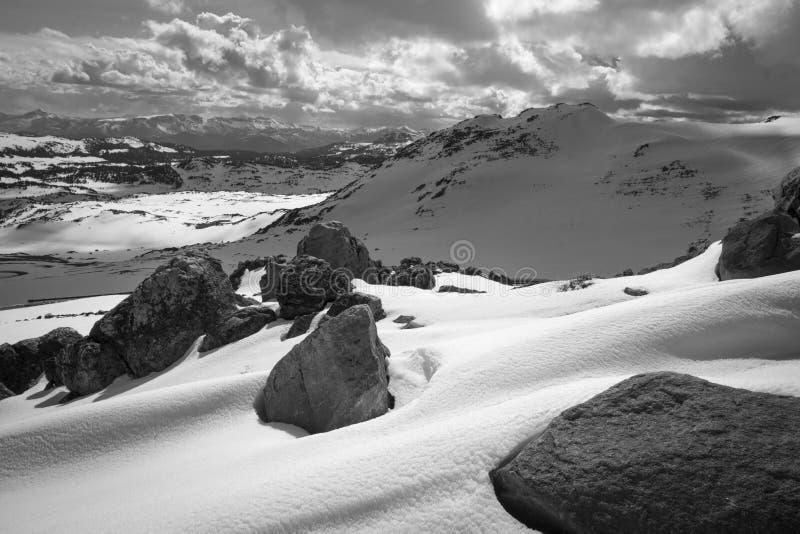 Trevlig vintersikt arkivfoton