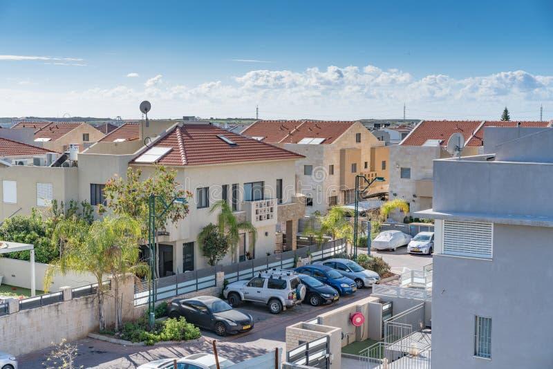 Trevliga Neibourhood i det Israel landet royaltyfria bilder