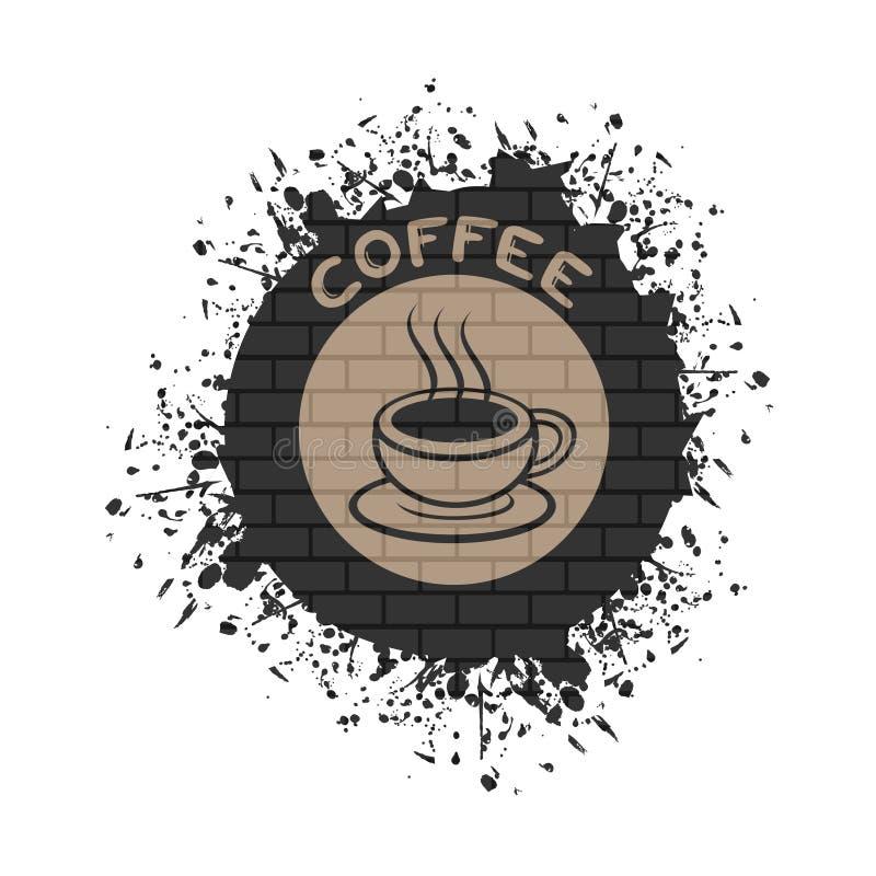 Trevligt coffesymbol vektor illustrationer