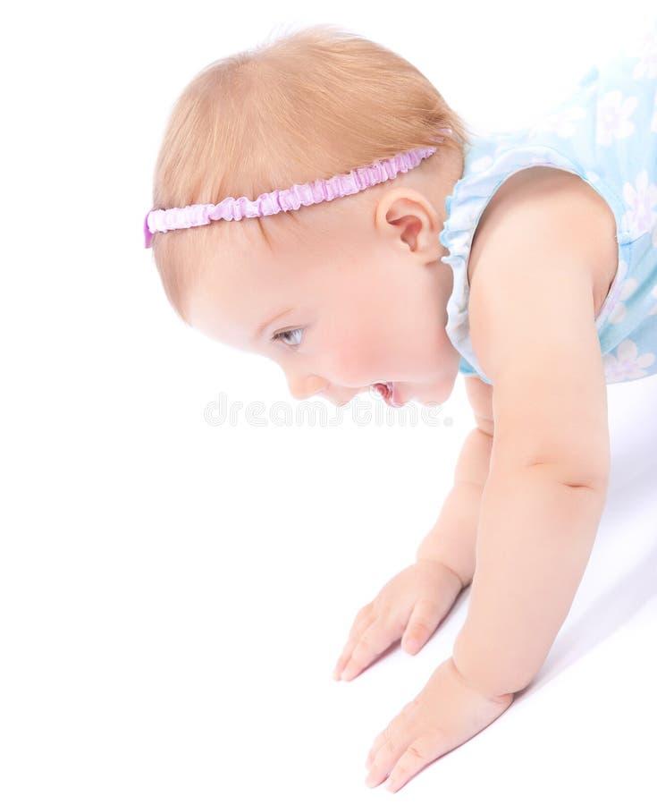 Trevligt glat behandla som ett barn flickan arkivfoto