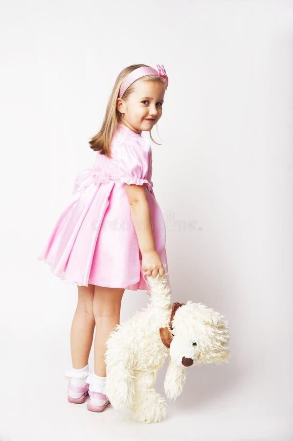 trevligt rosa barn för flicka royaltyfri fotografi