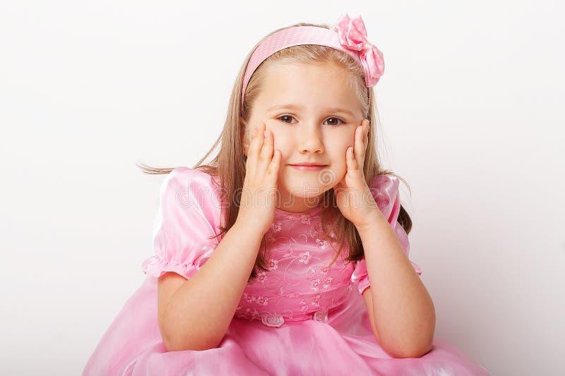 trevligt rosa barn för flicka fotografering för bildbyråer