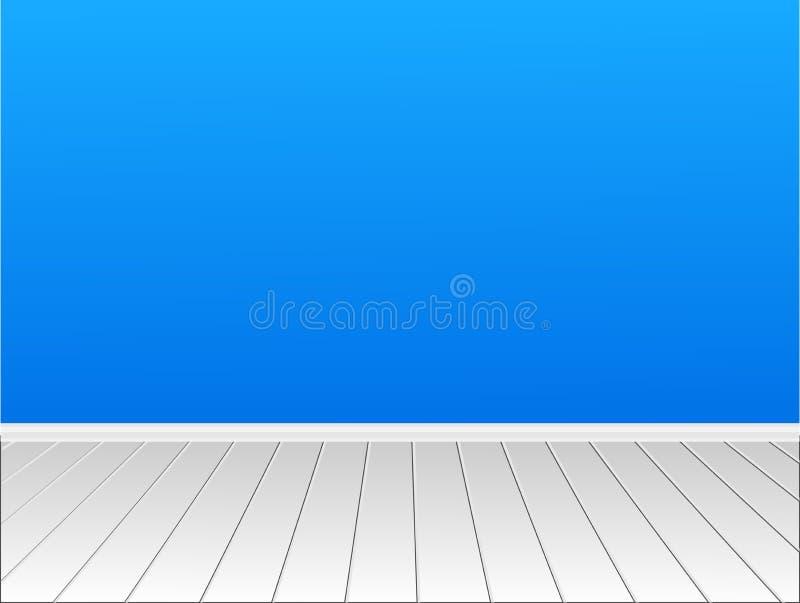 Trevligt rum med en vägg för ditt innehåll stock illustrationer