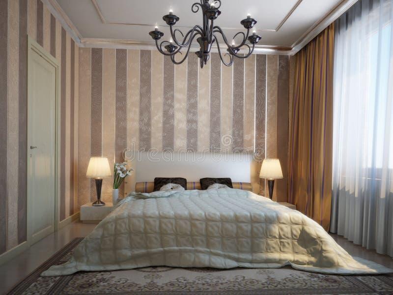 trevligt sovrum stock illustrationer