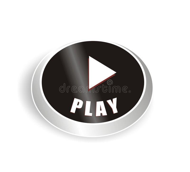 trevligt spelrum för svart knapp vektor illustrationer