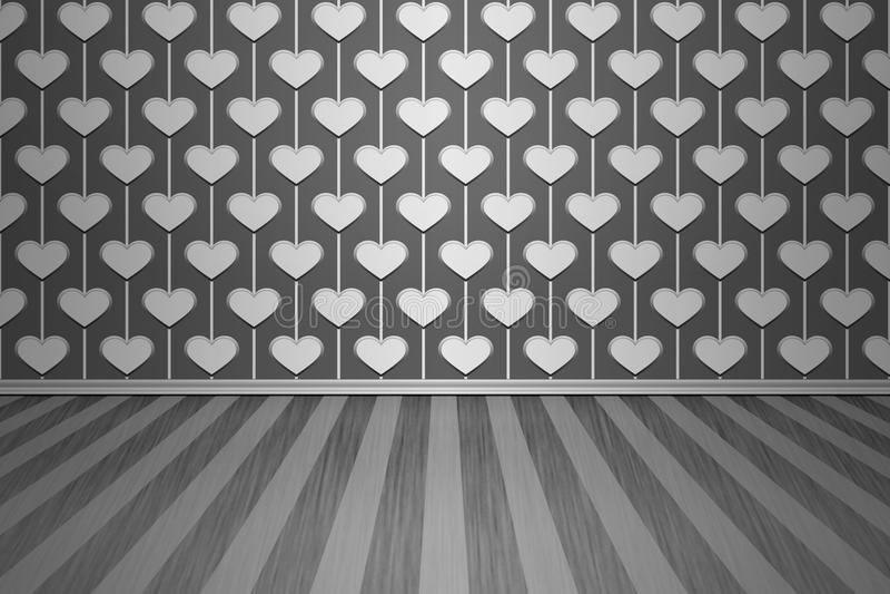 Trevligt töm rumbakgrund stock illustrationer