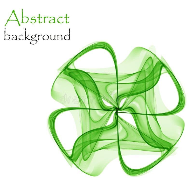 Trevo brilhante verde abstrato em um fundo branco ilustração stock