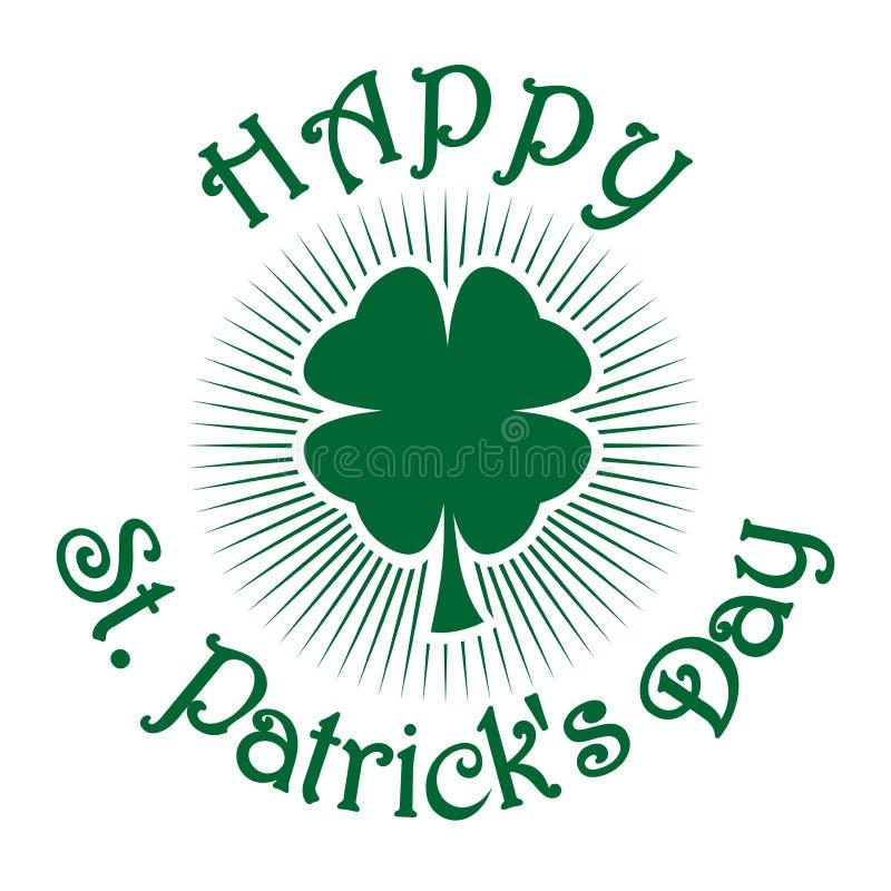 Trevo do trevo Trevo da folha do verde quatro Símbolo da celebração do dia do St Patricks imagem de stock